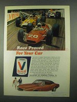 1967 Valvoline Motor Oil Ad - Race Proved For Your Car
