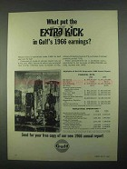 1967 Gulf Oil Ad - What Put the Extra Kick In Earnings