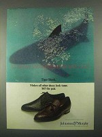 1967 Johnston & Murphy Tiger Shark Shoes Ad