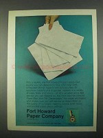 1967 Fort Howard Paper Napkins Ad
