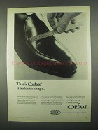 1967 Du Pont Corfam Ad - It Holds Its Shape