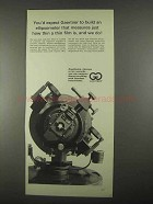 1967 Gaertner Ellipsometer Ad - How Thin a Film Is