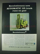 1967 Eaton Yale & Towne Rebel Automatic Lift Truck Ad