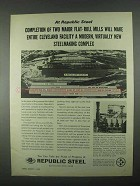 1967 Republic Steel Ad - Cleveland Facility Modern