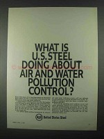 1967 United States Steel Ad - Air and Water Pollution