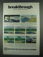 1967 United States Steel Ad, Breakthrough Crash Program
