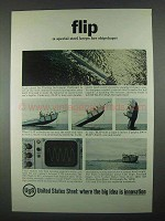 1967 United States Steel Ad - Flip Keeps Shipshape