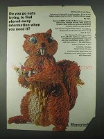 1967 Honeywell Computers Ad - Go Nuts - Squirrel