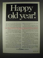 1967 Ohio Edison Company Ad - Happy Old Year