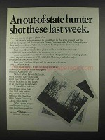 1967 Ohio Edison Company Ad - Out-of-State Hunter