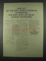 1967 The Wall Street Journal Ad - Only 95% Original