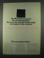 1967 The Wall Street Journal Ad - Has No Photographs