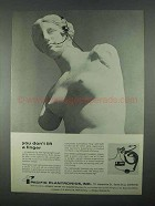 1967 Pacific Plantronics MS50 Lightweight Headset Ad