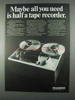 1967 Panasonic System Maker RS-766 Tape Recorder Ad