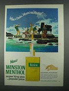1967 Winston Menthol Cigarettes Ad - What A Combo