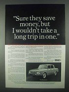 1967 Renault 10 Car Ad - Sure They Save Money