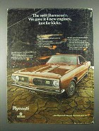 1968 Plymouth Barracuda Car Ad - 4 New Engines
