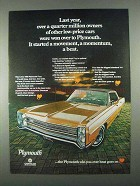 1968 Plymouth Fury Ad - Started a Movement, a Beat