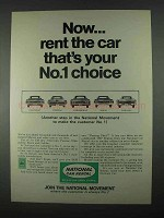 1967 National Car Rental Ad - Your No.1 Choice