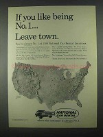 1967 National Car Rental Ad - Leave Town