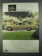 1967 Lincoln Continental Coupe Ad - Only a Car Away