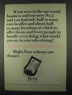 1967 Hertz Rent-A-Car Ad - In The Business