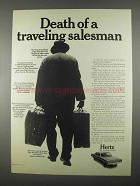 1967 Hertz Rent-A-Car Ad - Death of a Salesman