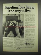 1967 Hertz Rent-A-Car Ad - Traveling For a Living