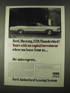 1967 Ford Authorized Leasing System FALS Ad