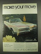 1968 Chrysler 300 Convertible Ad - Make Your Move