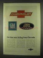 1967 Chevrolet Motors Ad - Get That Sure Feeling