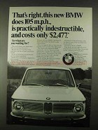 1967 BMW Car Ad - Is Practically Indestructible
