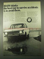 1967 BMW Car Ad - Best Way to Survive Accidents