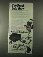 1967 Durst M 600 Enlarger Ad - The Durst Late Show