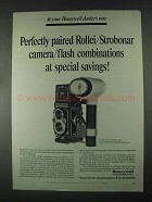1967 Honeywell Rolleiflex 3.5 Camera, 660 Flash Ad