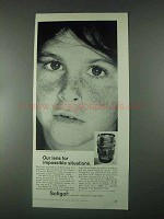 1967 Soligor 85mm f1.5 Lens Ad - Impossible Situations