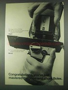 1967 Bolex Movie Camera Ad - You've Just Mastered