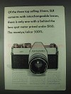 1967 Mamiya/Sekor 500TL Camera Ad - Top Selling
