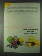 1967 Kodak Color-Slide Films Ad - Creative Choice, Too