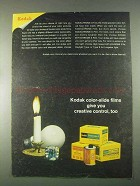 1967 Kodak Color-Slide Films Ad - Creative Control, Too