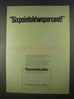 1967 State Mutual of America Ad - Sixpointohtwopercent