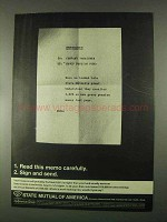 1967 State Mutual of America Ad - Read This Memo