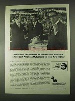 1967 American Mutual Insurance Ad - Workmen's Comp