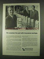 1967 American Mutual Insurance Ad - Sweeten the Pot