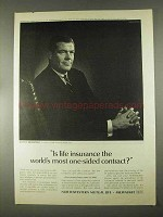 1967 Northwestern Mutual Life Ad - One-Sided Contract