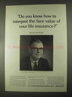 1967 Northwestern Mutual Life Ad - The Face Value