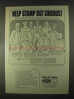 1967 The St. Paul Insurance Ad - Stamp Out Snoods
