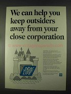1967 New York Life Insurance Ad - Keep Outsiders Away