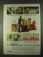 1967 USF&G Insurance Ad - Your Playtime, Your Plantsite
