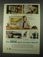 1967 USF&G Insurance Ad - Your Haven, Your Hobby